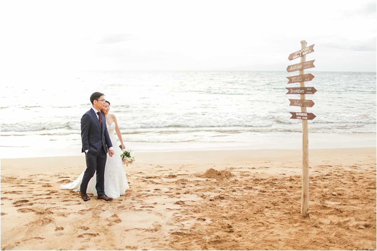 Maui elopement by Love and Water Photography and Maile Maui Weddings at Palauea Beach