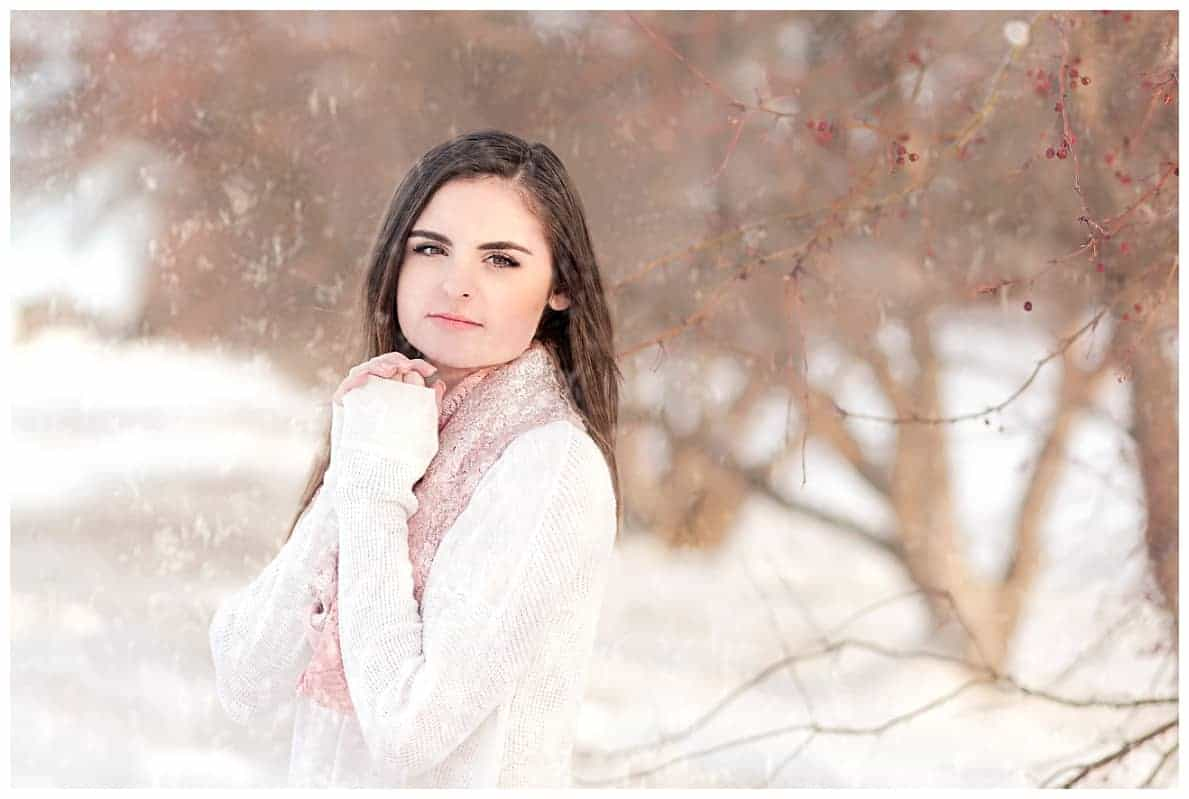 Snowy senior pictures