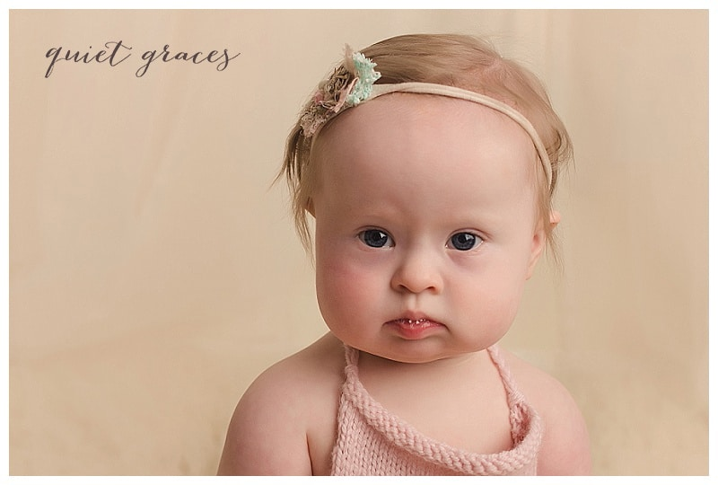 Greenville SC Down Syndrome Baby Newborn Photographer