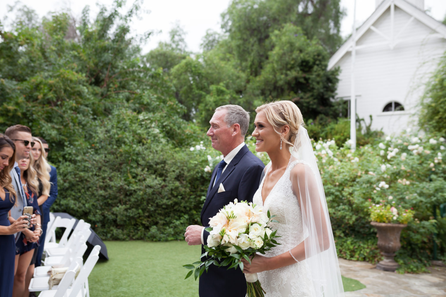 Dad and Bride walk the Aisle