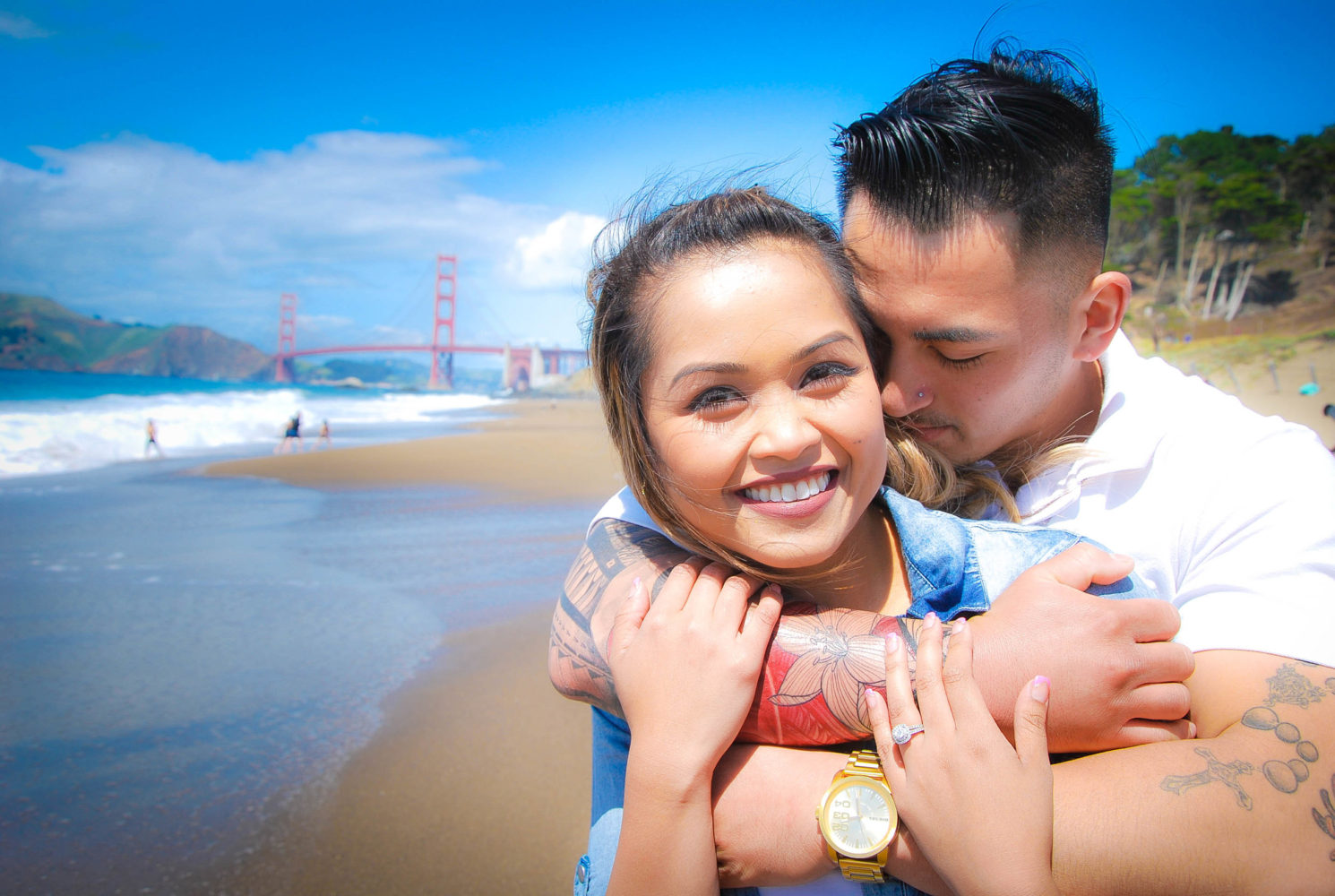 Baker Beach San Francisco California Engagement Photoshoot