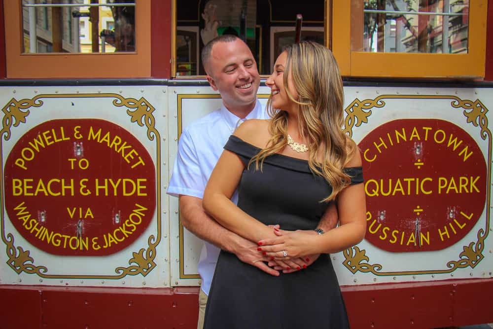 Cable Car San Francisco California Engagement Shoot