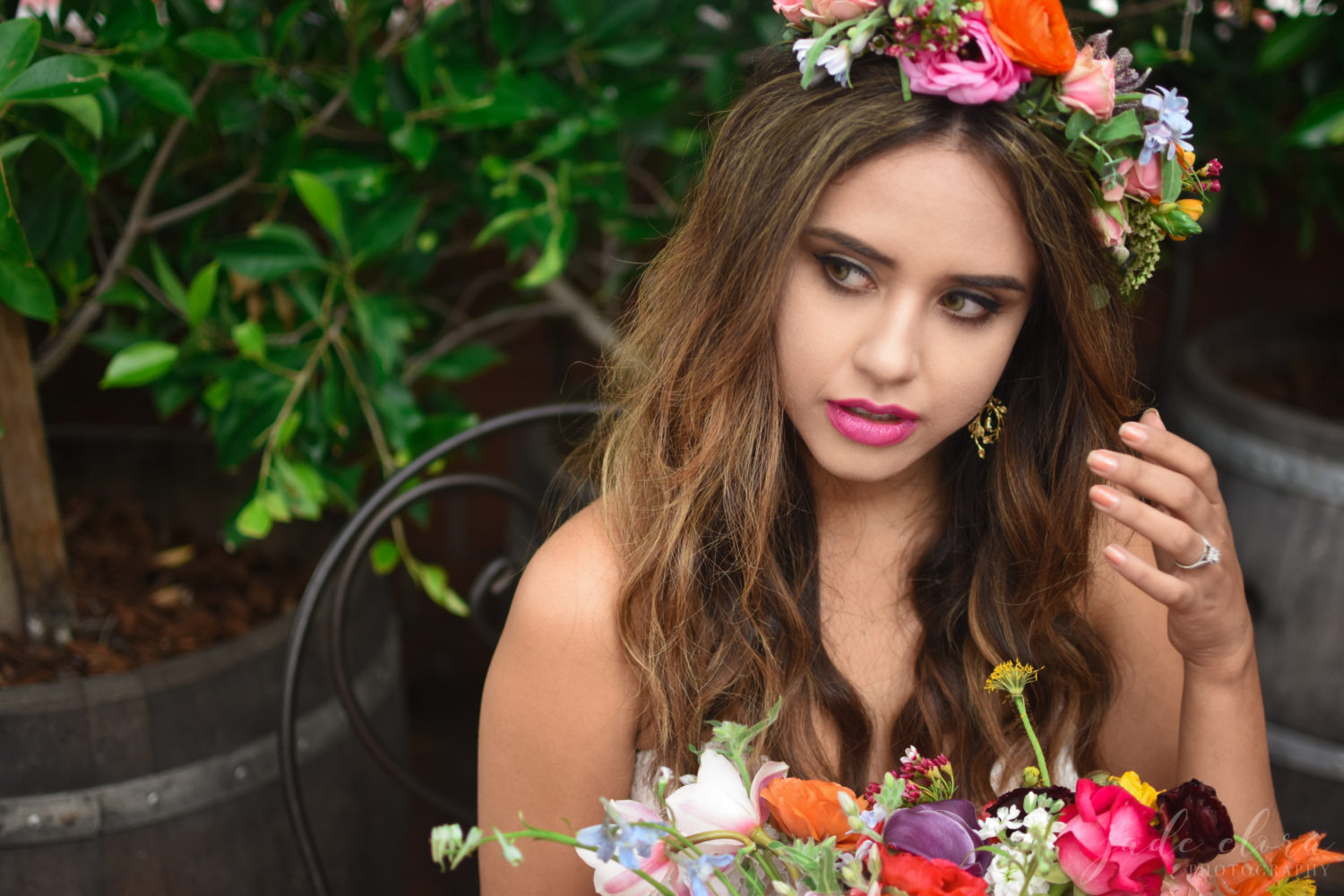 Bouquet and Floral Crown - © Jade Elora Photography