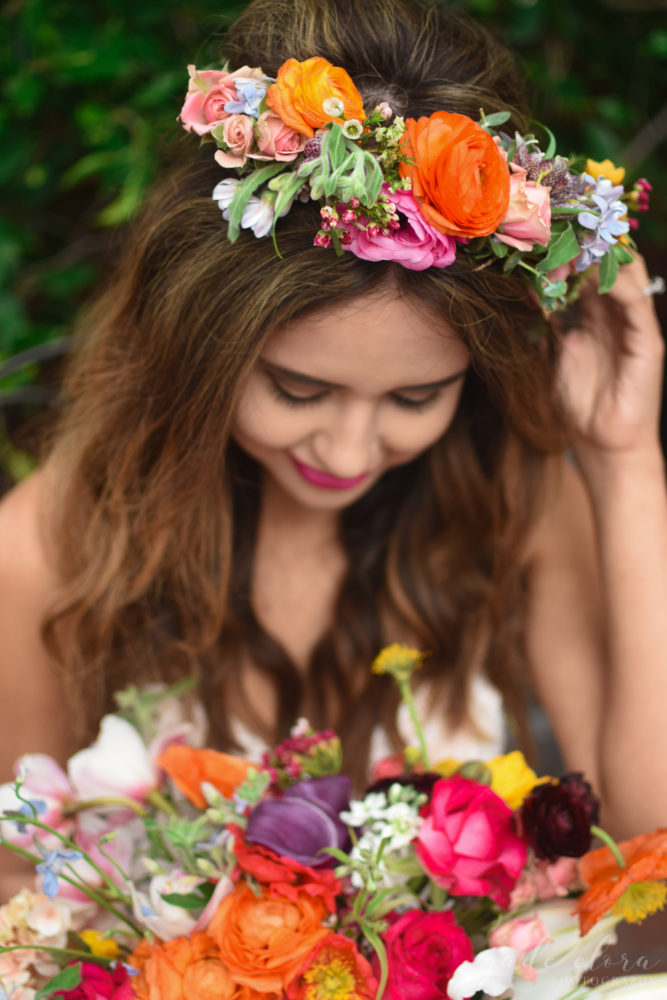 Colorful Floral Crown - © Jade Elora Photography