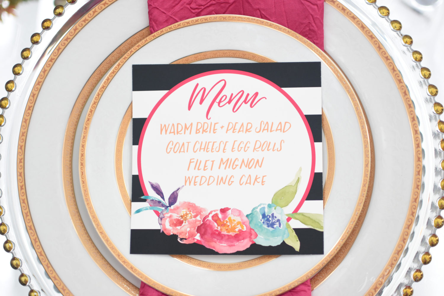 Colorful Wedding Tablesetting - © Jade Elora Photography