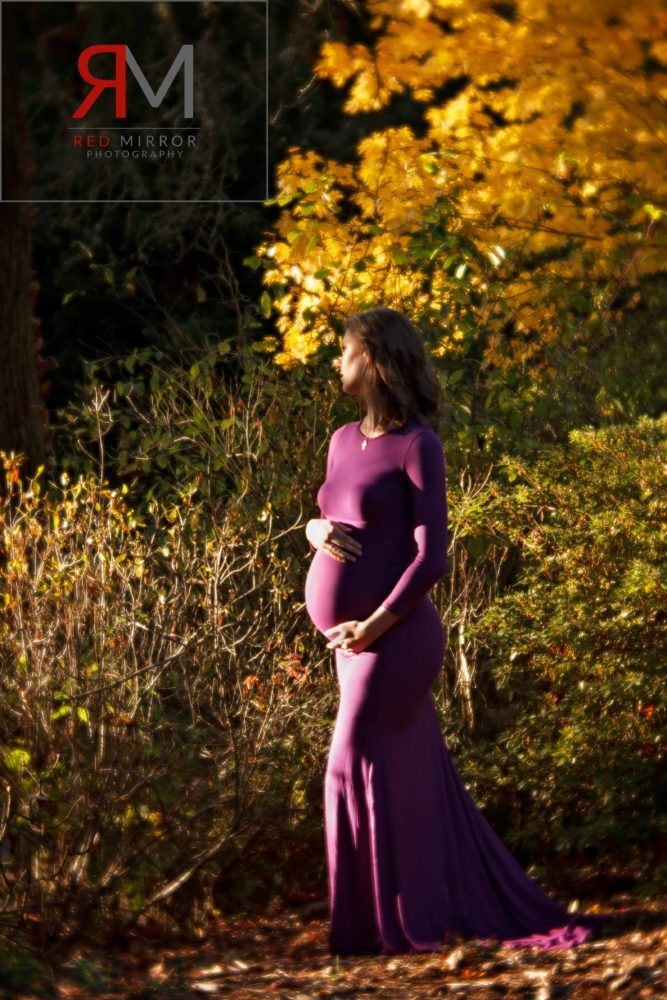 Pregnancy image in fall