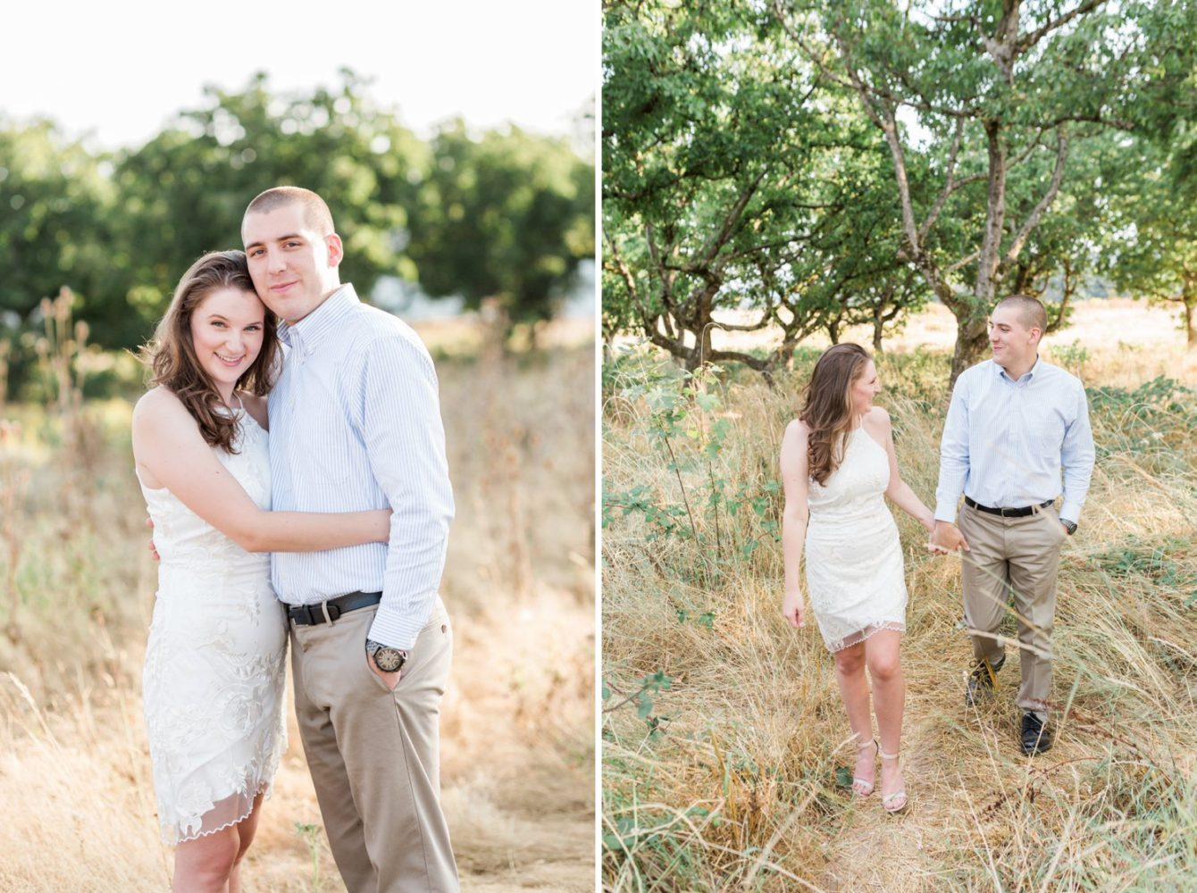 Powell Butte in Portland, Oregon is a perfect engagement session location