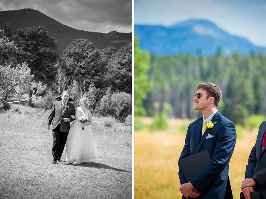 rocky mountain park wedding ceremony