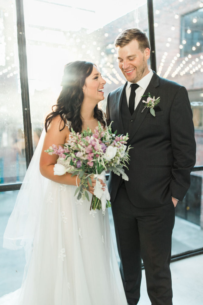 Couple during Louisville Wedding at Mellwood Arts Center